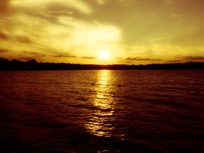 Sunset from the middle of the lake